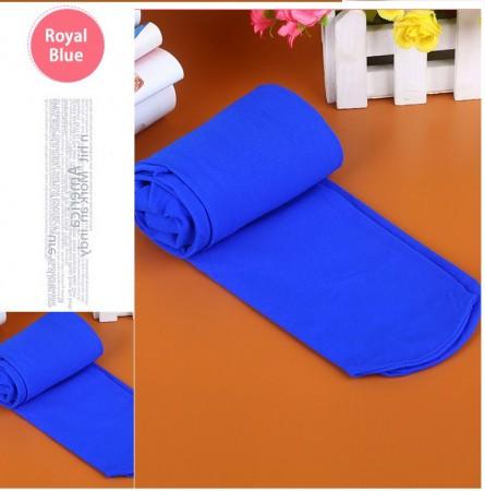 Royal Blue 80s 70s Disco Opaque Womens Pantyhose Stockings Hosiery Tights 80 Denier