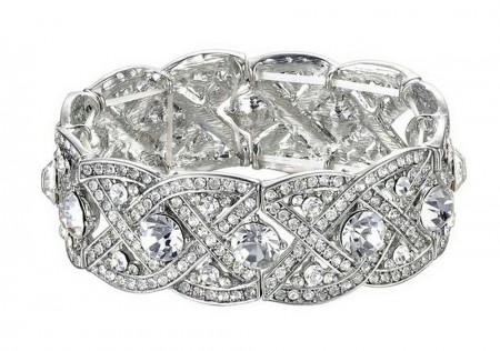 1920s Vintage Bracelet Silver Great Gatsby Flapper
