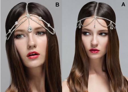 Silver Rhinestones Head Chain Accessorie