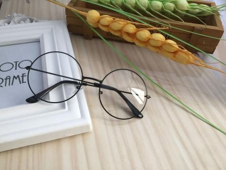 Clear Retro 80s Round Frame Sunglasses