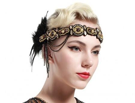 1920s Vintage Great Gatsby Flapper Headpiece
