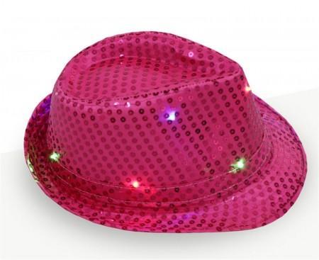 Kids Rose LED Light Up Flashing Sequin Costume Hat