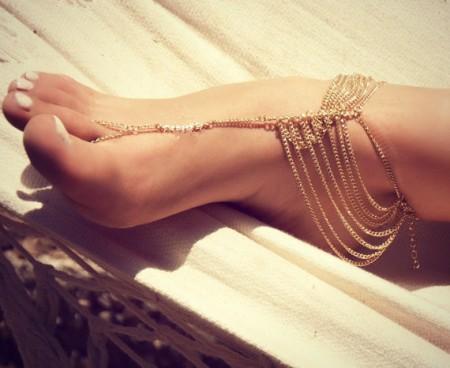 Bohemian Beach Multi Tassel Toe Anklet Chain Bracelet Barefoot Sandal