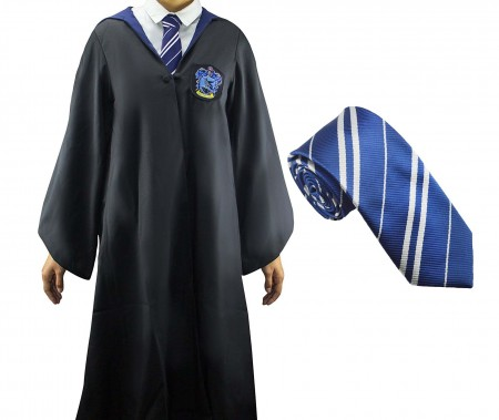 Robe with Tie Mens Ladies Harry Potter Adult Robe Costume Cosplay Ravenclaw