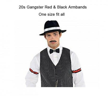 20s red & black armbands