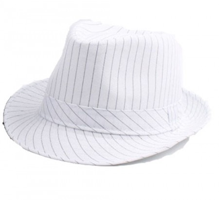 White Adult 20s Gangster Hat Gatsby Fancy Dress Costume Accessory
