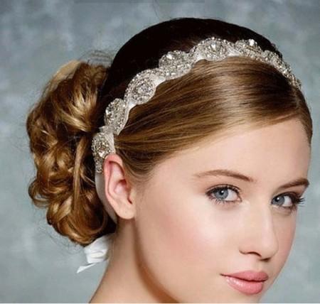 Deco Vintage Headband Great Gatsby Downton Wedding Boho Goddess