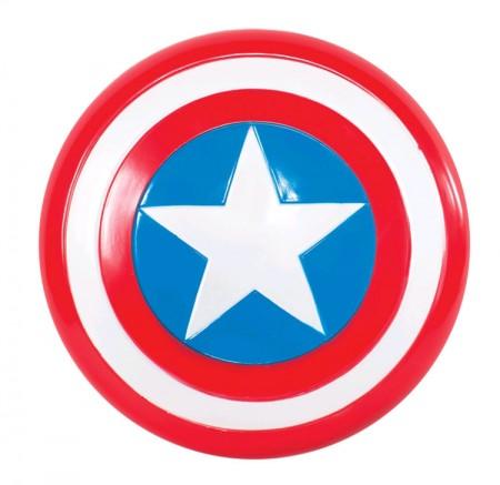 "Captain America Costumes - Captain America Shield 30cm 12"" Fancy Dress Superhero Boys Licensed Costume Accessory"