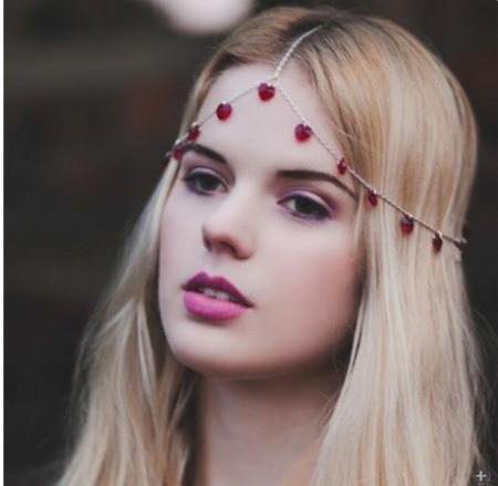 Bohemian Deco Headband Great Gatsby Downton Wedding Boho Goddess