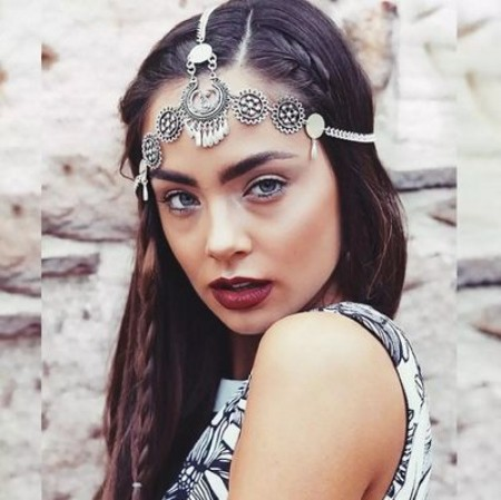 Bohemian Deco Chain Headband Great Gatsby Downton Wedding Boho Goddess