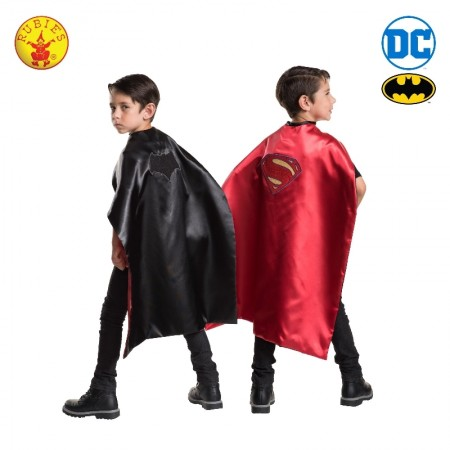 Batman to Superman Reversible Cape Child Boys Superhero Hero Kids Costume