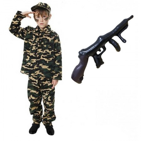 75cm Inflatable Tommy Gun Gangster Gatsby 1920s 20s Fancy Dress Costume Accessory