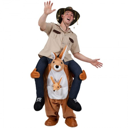 Kangaroo Shoulder Carry Piggy Back Ride On Me Costume