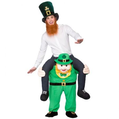 Leprechaun St Patricks Day Shoulder Carry On Piggy Back Ride On Me Costume