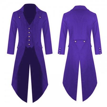 Purple STEAMPUNK TAILCOAT COSTUME JACKET Magician