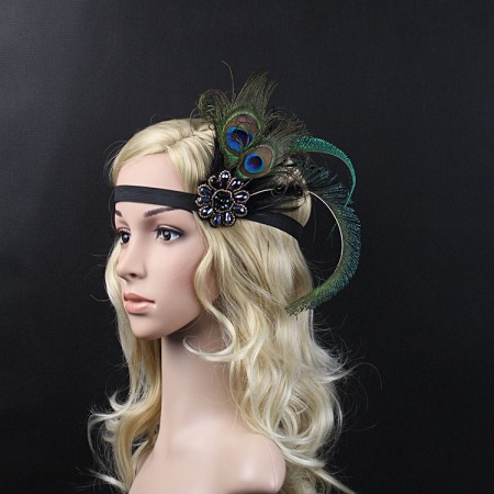 Peacock Feather Great Gatsby Flapper Headband