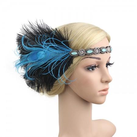 1920s Headband Feather Great Gatsby Flapper Headpiece