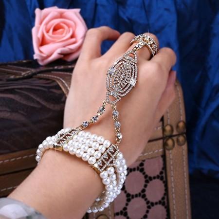 Gold 1920s Vintage Bracelet Great Gatsby Flapper Costume