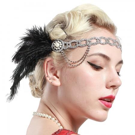 Ladies 20s Pearl Gatsby Flapper Headpiece