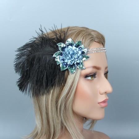 Ladies 20s Headband Gangster Flapper Headpiece