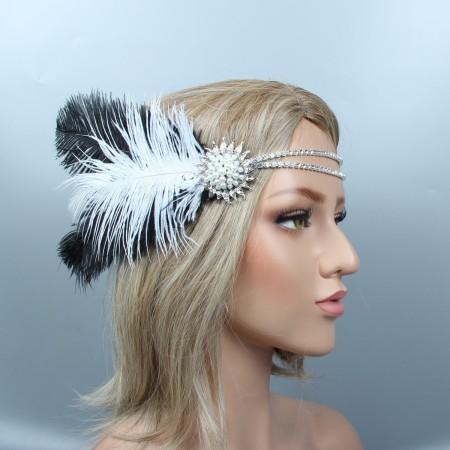 1920s Gatsby Flapper Headpiece