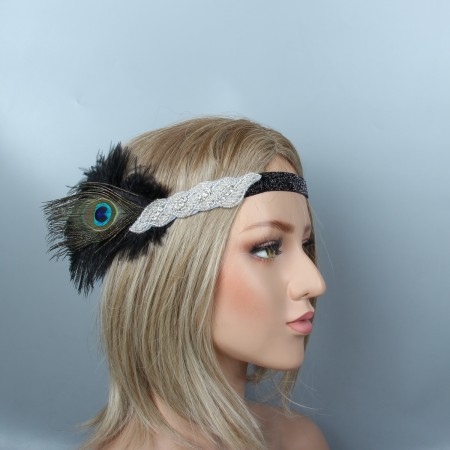 Adult 20s Feather Flapper Headpiece