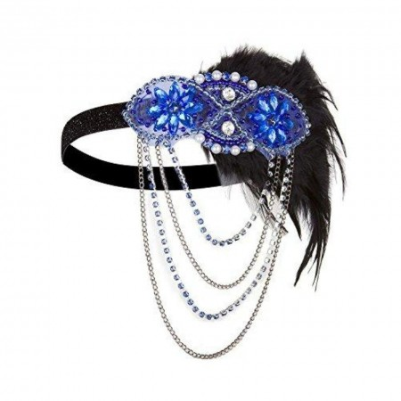 1920s Blue Great Gatsby Flapper Headpiece