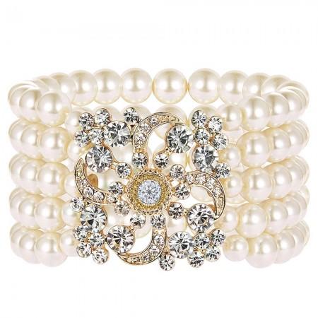Gold 20s Flapper Vintage Bracelet lx0196-2