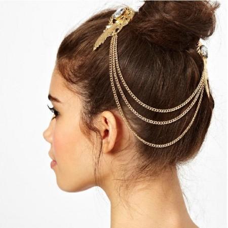 Bohemian Deco Vintage Headband Great Gatsby Downton Wedding Boho Goddess