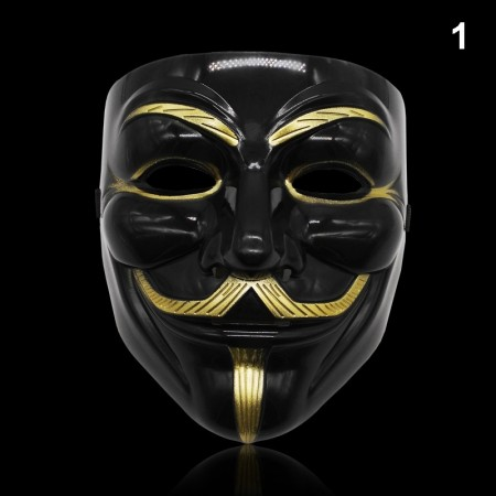 Black V For Vendetta Mask lx2025-1