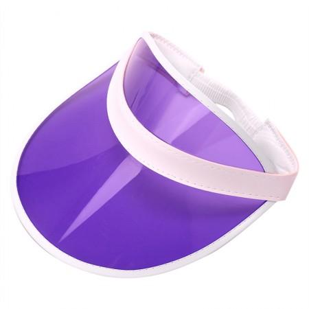 Purple Unisex Sun Visor Cap