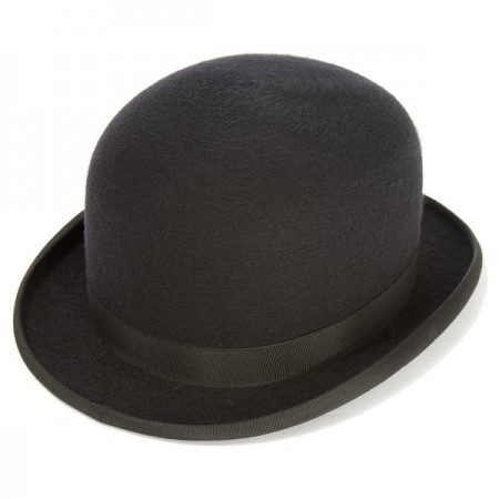 Adult Black Kaminski Kangol Irish Bowler Hat