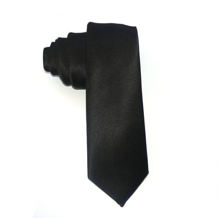 1920s Mens Black Gangster Costume Tie Roaring Gatsby Costume Accessory