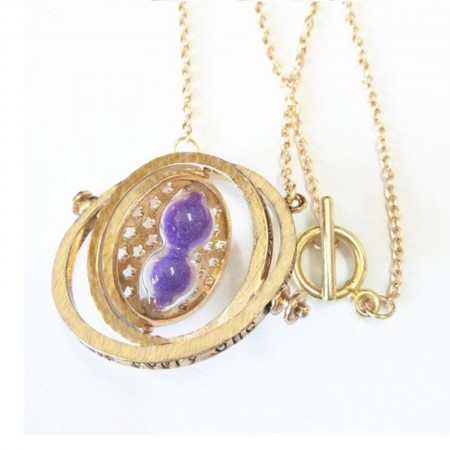 Harry Potter Time Turner Necklace Purple