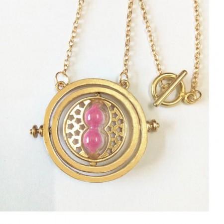 Harry Potter Time Turner Pink Necklace