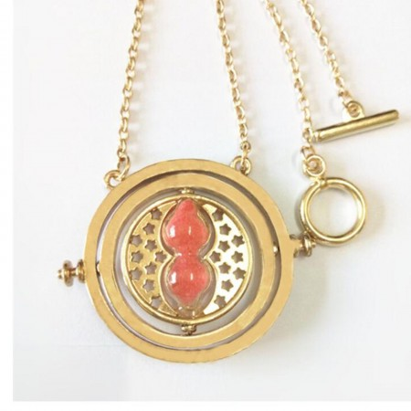 Red Harry Potter Time Turner Necklace
