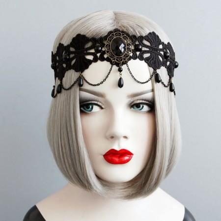 Veil Headpiece Dracula Queen Headdress Wedding Lolita Vampire
