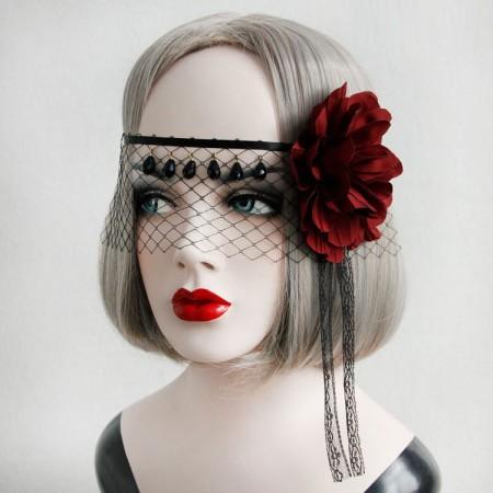 Veil Headpiece Vintage Dracula Queen Headdress