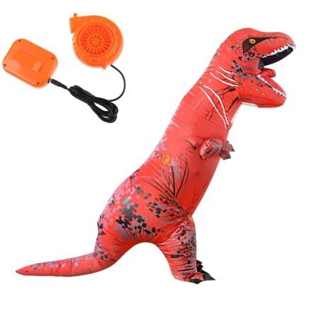 Red ADULT T-REX INFLATABLE Costume Jurassic World Park Blowup Dinosaur TRex T Rex