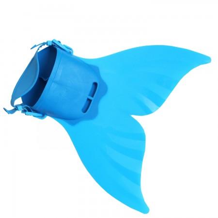 Kids Blue Mermaid Tail Monofin Mono Swimming Fin Foot Training Flipper