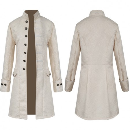3102white STEAMPUNK TAILCOAT JACKET white