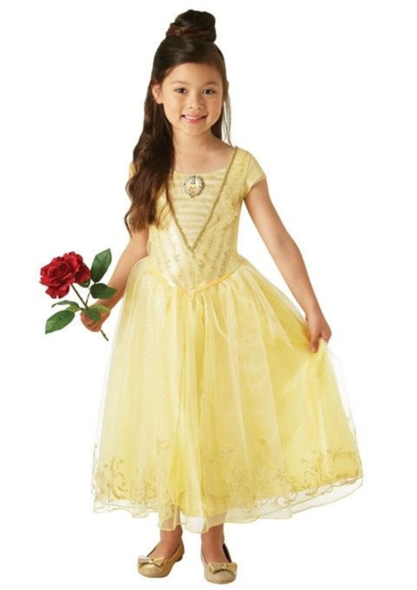 5ab795211a5 Deluxe Belle Princess Disney Live Action Girls Childs Fancy Dress ...