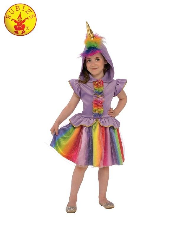 92d98a922281 Rainbow Unicorn Girls Fancy Dress Fairy Tale Book Day Animal Kids Childs  Costume