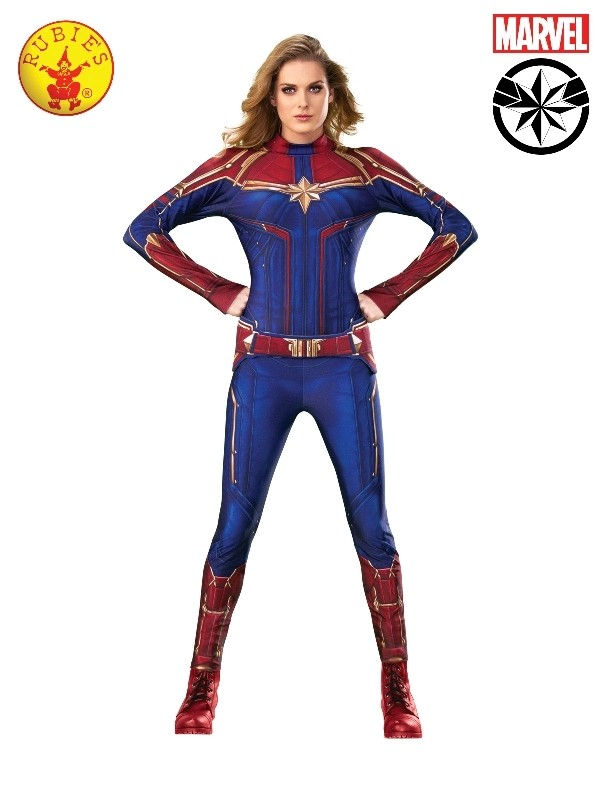 Captain Marvel Deluxe Costume Adult You are certain to marvel at the quality of this exquisite captain marvel costume. costumes australia