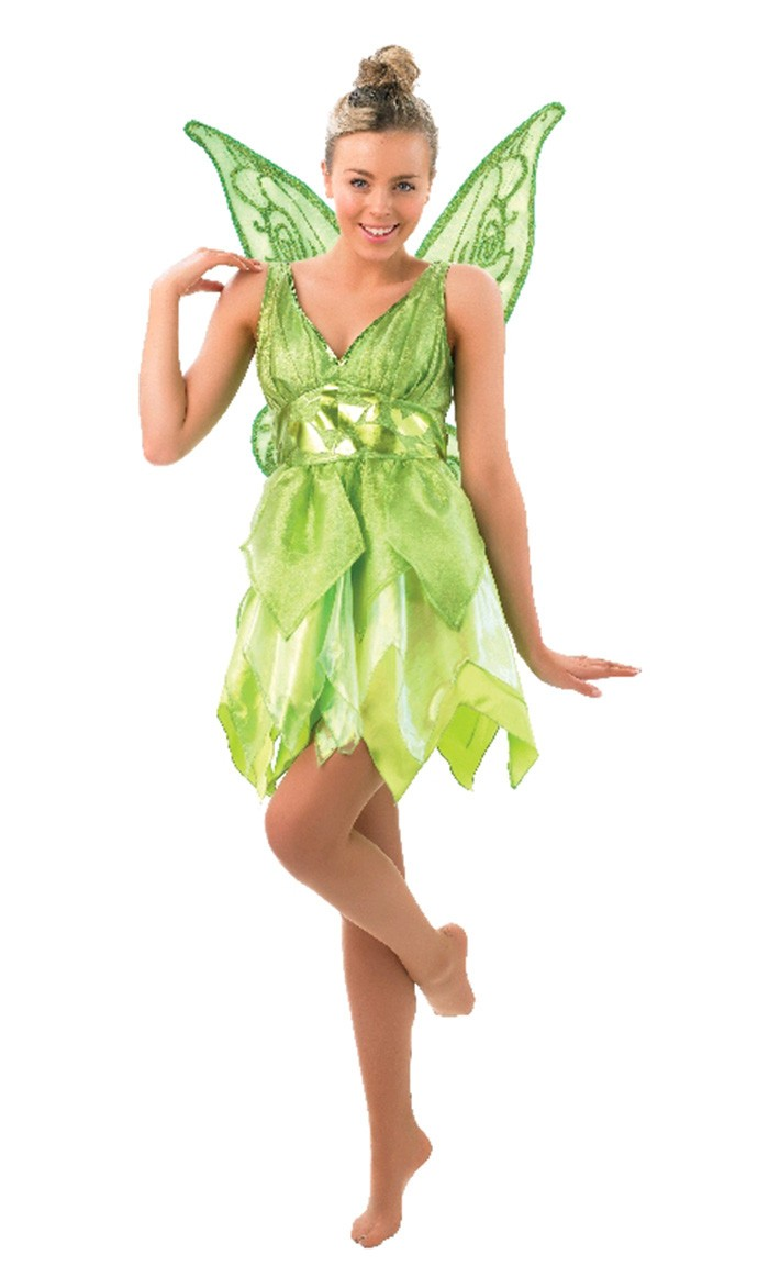 Girls Tinker Bell Tinkerbell Costume Kids Halloween Party Fancy Dress With Wings