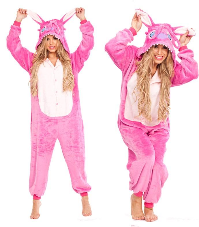 Pink Stitch Onesie Adult Costume