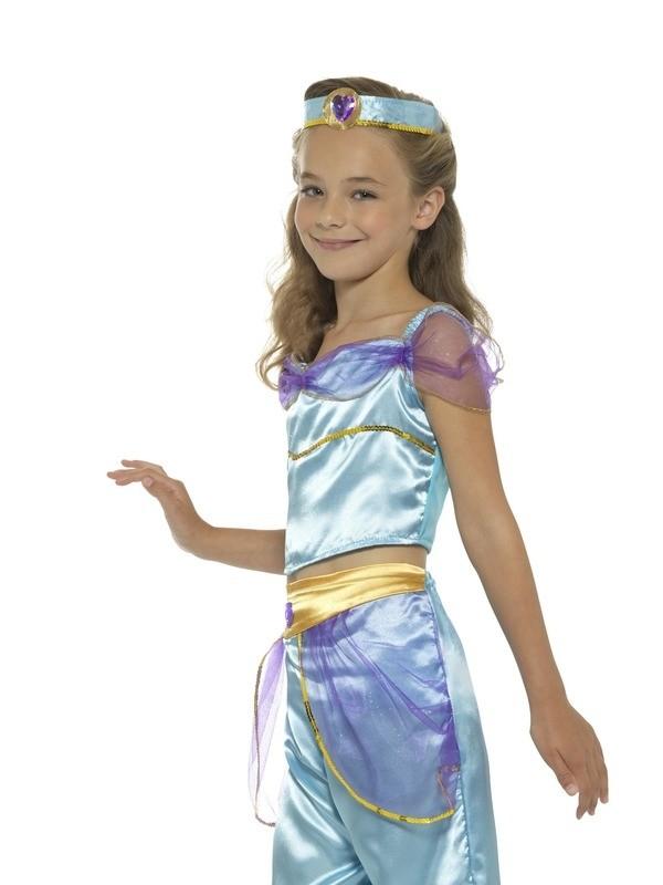 Arabian Princess Girls Fancy Dress Jasmine Kids Childs Fairytale Book Costume
