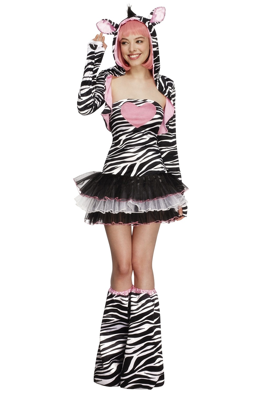 Fever Sexy Zebra Safari Animal Jungle Zoo Bodysuit Catsuit