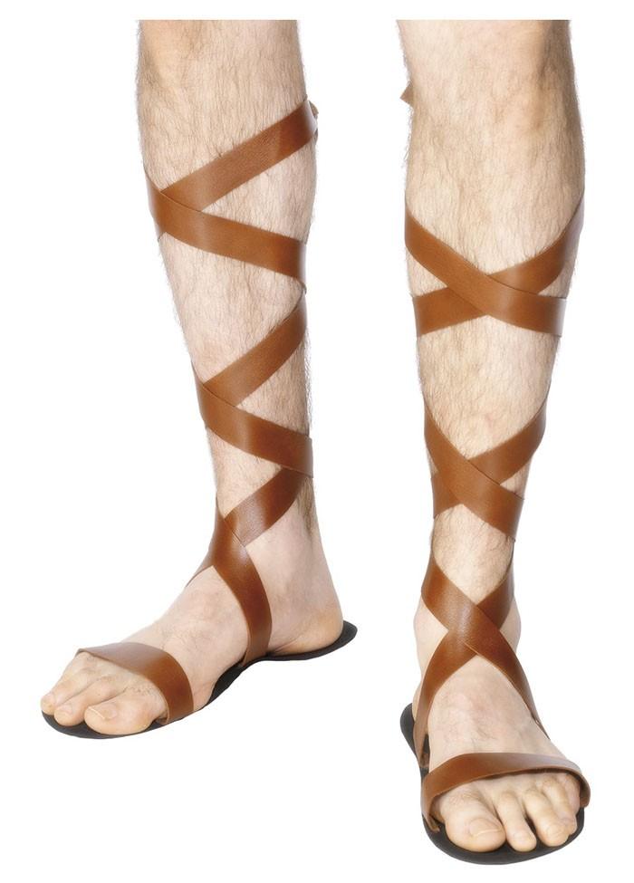 MENS ROMAN SANDALS FANCY DRESS GREEK SHOES