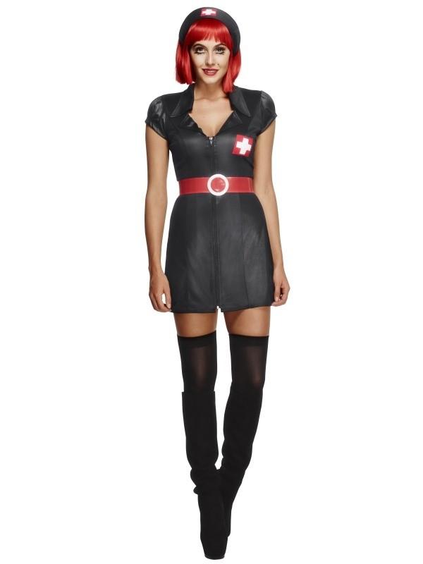 Fever Sequin Police Hat Black Cops /& Robbers Women/'s Fancy Dress Costume